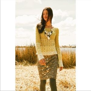 ANTHRO SPARROW Ombré Cable Knit Sweater